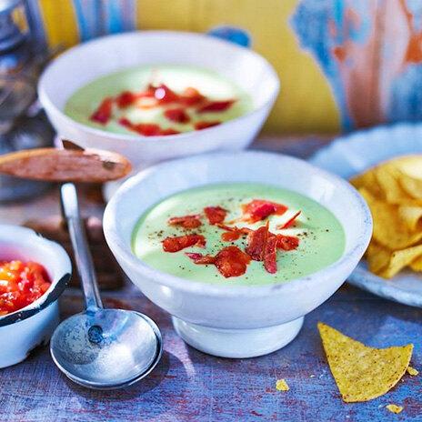 Рецепт супа-пюре с авокадо и беконом