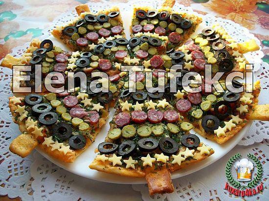 """Пицца """"Новогодняя"""" - красиво и вкусно"""