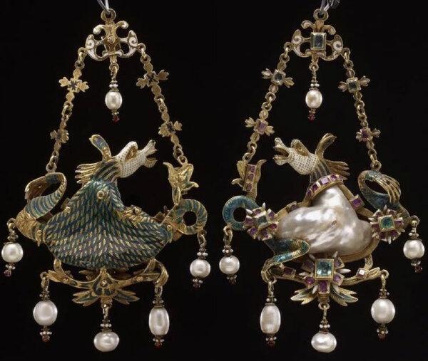 """Подвеска """"Гиппокамп"""", Италия, 16 век."""