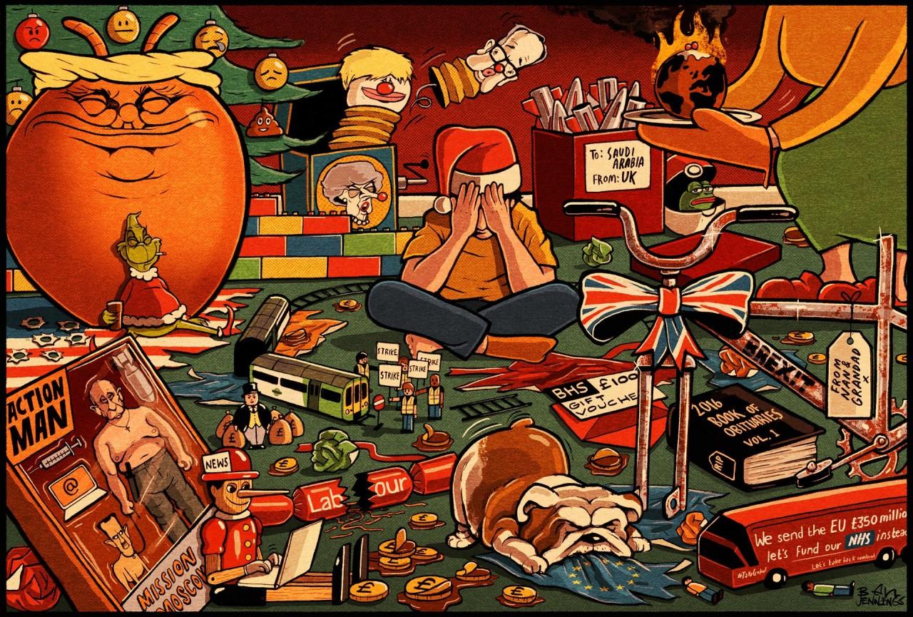 2016-й год в карикатуре