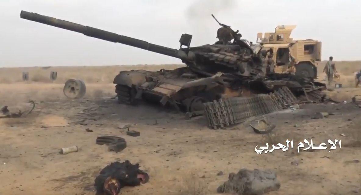 Разбитый хуситами суданский отряд в районе йеменского города Майди