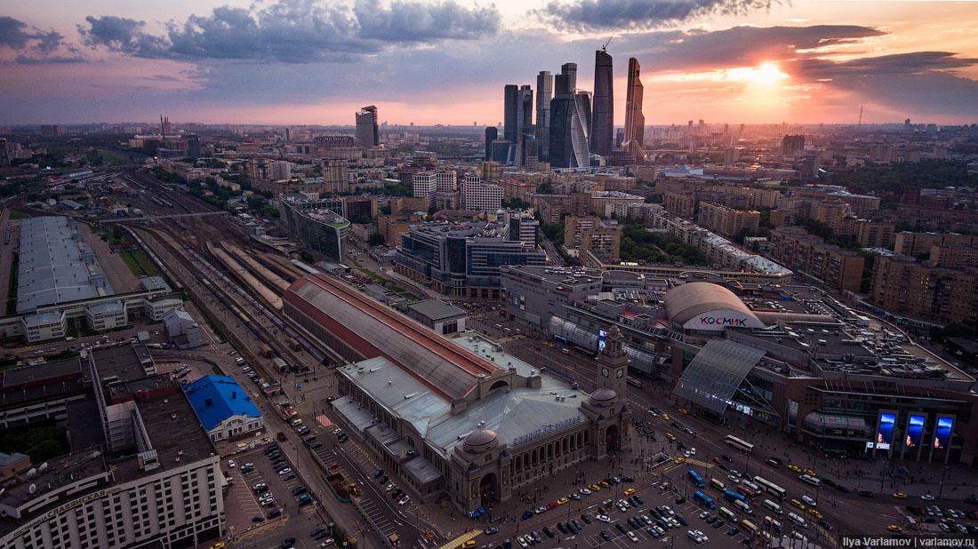 Полет над Москвой в 2016 году