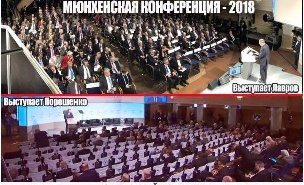 «Почувствуй изоляцию»: на фото видно, как слушали в Мюнхене Лаврова и Порошенко