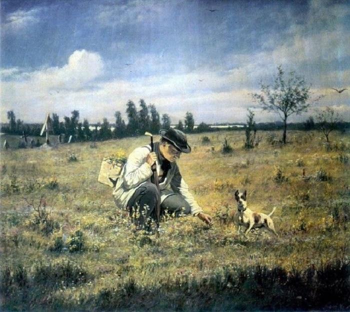 Работа относится к продолжению охотничьей серии картин известного художника.