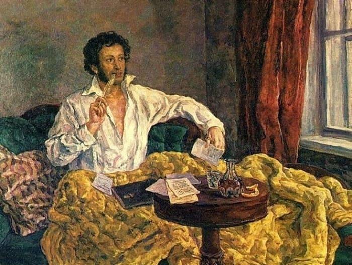 П. Кончаловский. Пушкин в Михайловском, 1940   Фото: artchive.ru