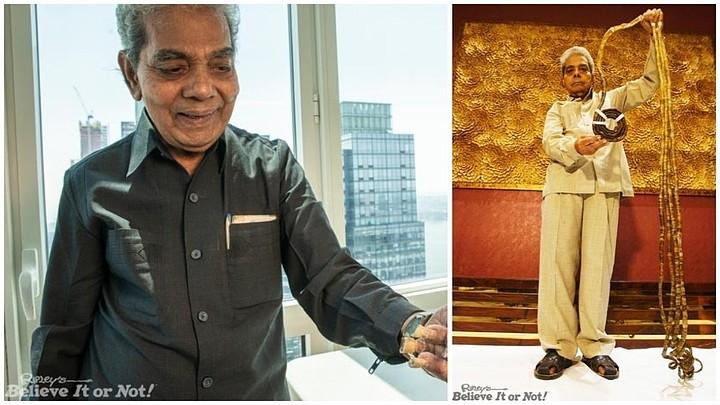 Индиец обрезал самые длинные ногти в мире, которые отращивал 66 лет