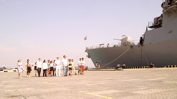 """Одесса, эсминец """"Дональд Кук"""", сентябрь 2015 г."""