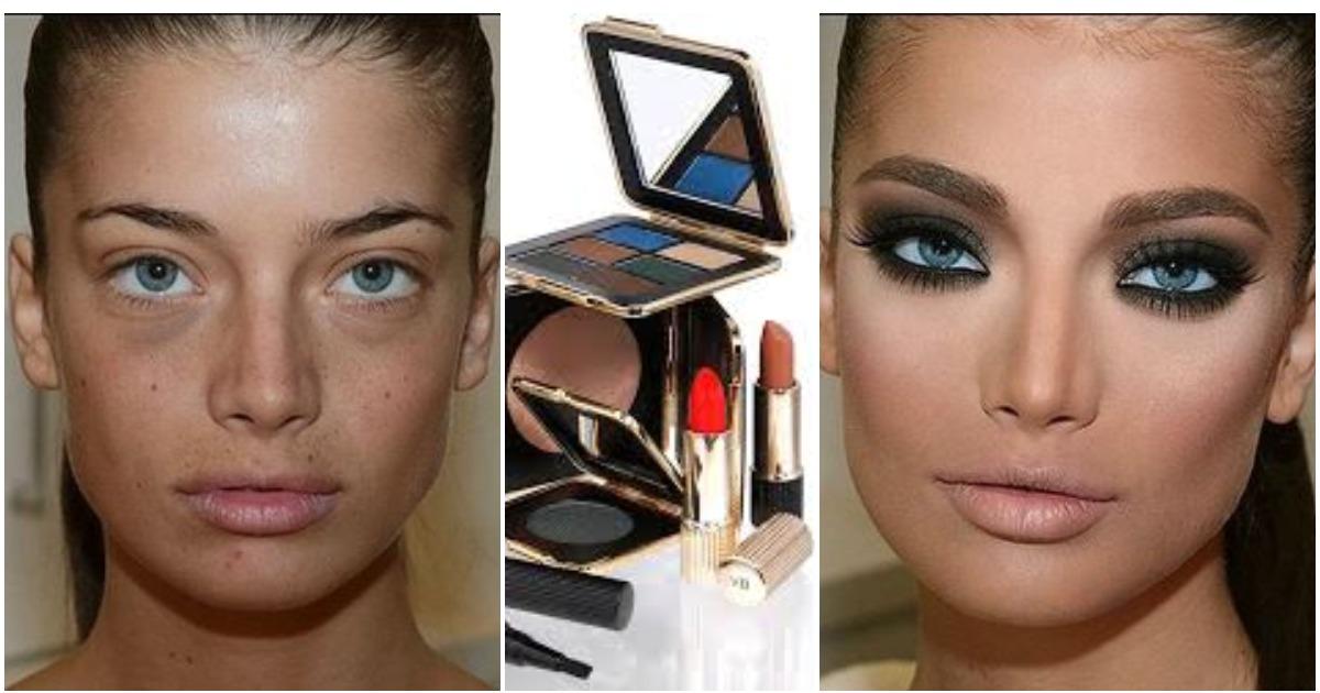 Косметика на страже красоты: фото девушек до и после макияжа