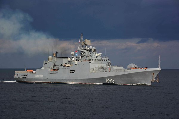 Фрегат ВМФ России поймал под…