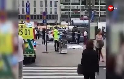 Видео с места резни в финском городе Турку