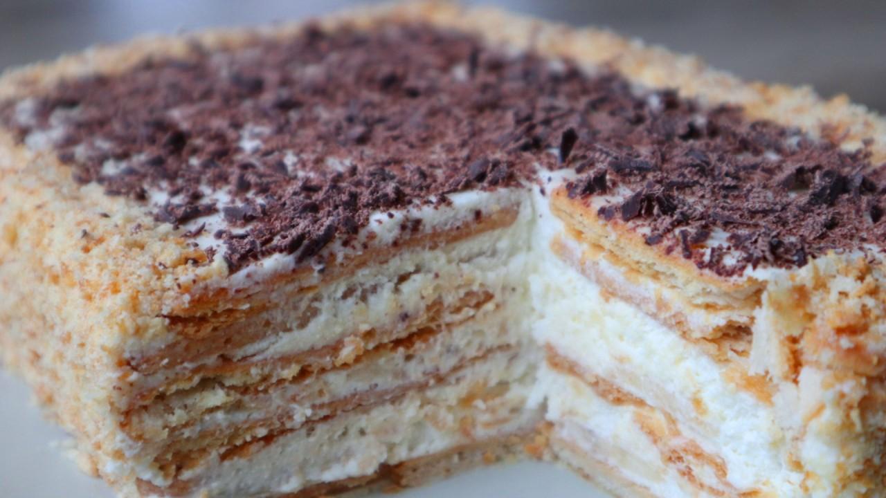 Торт без выпечки за 15 минут плюс время на пропитку