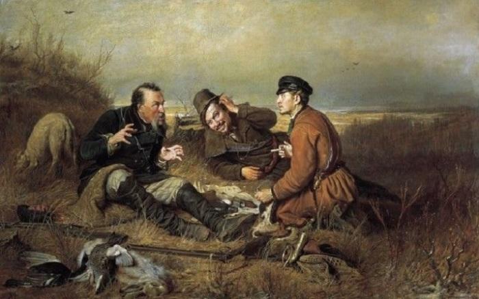 Картина является одной из самых знаменитых вариаций художника на тему охоты.