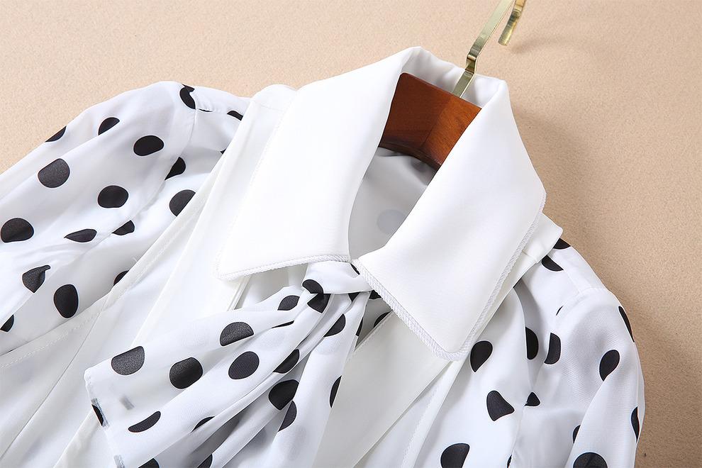 Блузки в горошек: тренд 2020 года. 50 модных образов с фото