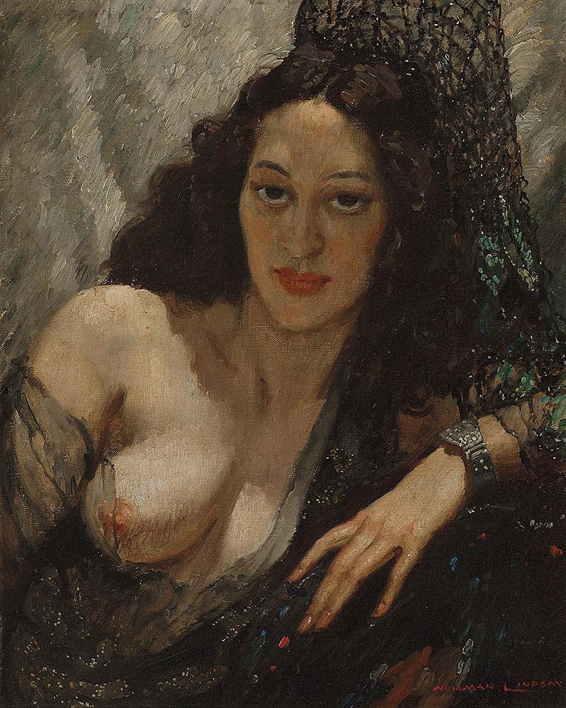 Прелестные нимфы, козлоногие обольстители и демоны в картинах Нормана Линдсея 43