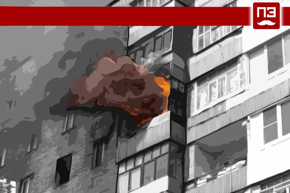 На Васильевском острове в Петербурге горела квартира