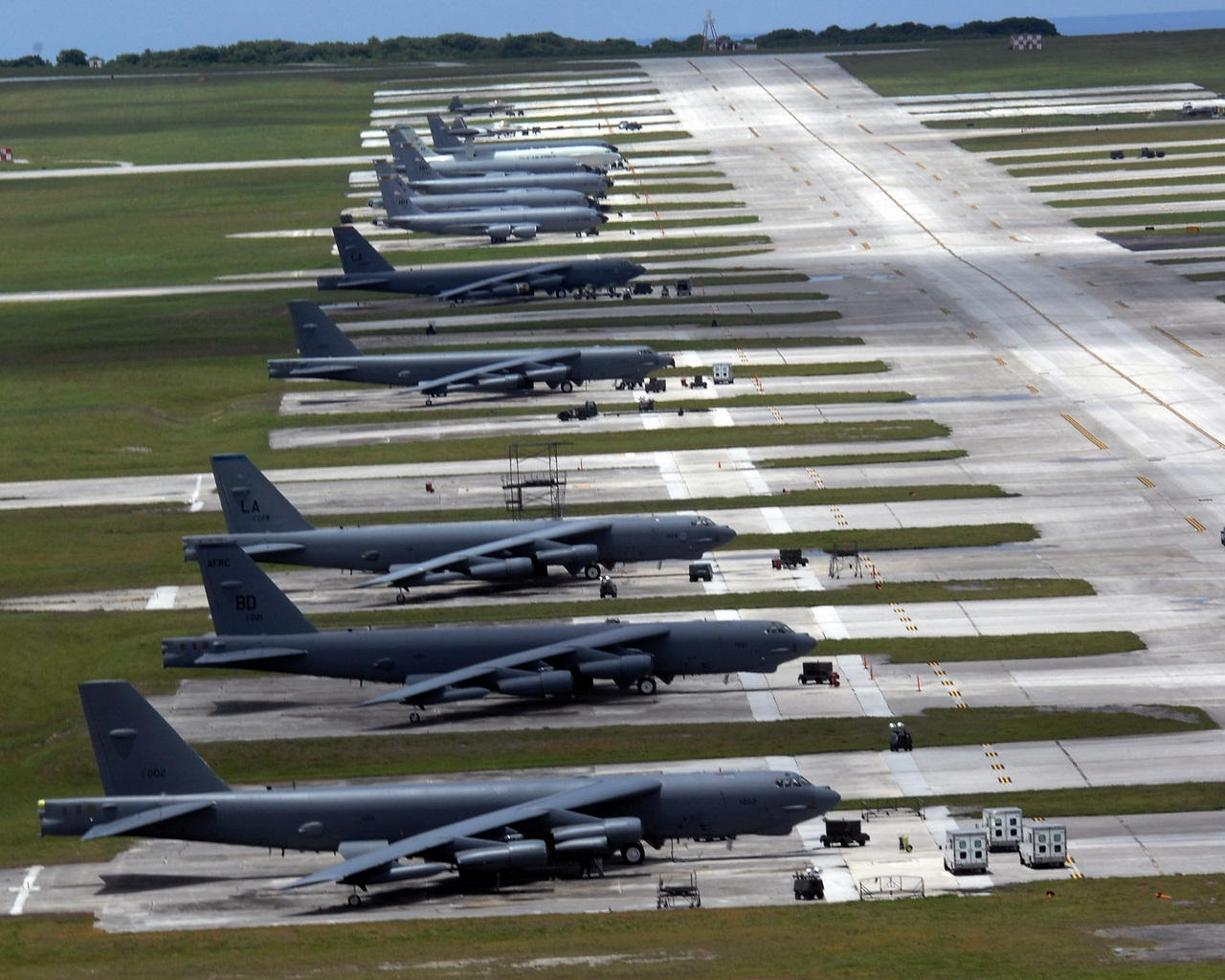 B-52s roar over Guam during bomber surge