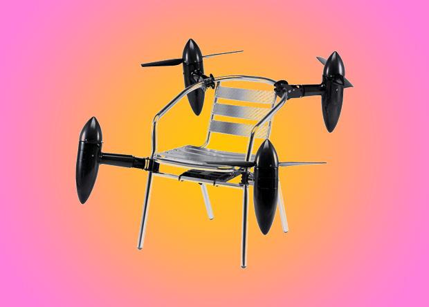 Японский модульный дрон превратил стул в беспилотник