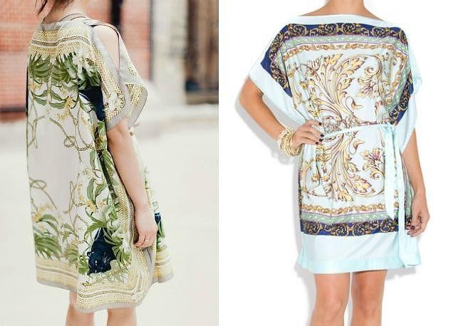 Шъем платье из платков  - идеи супер!