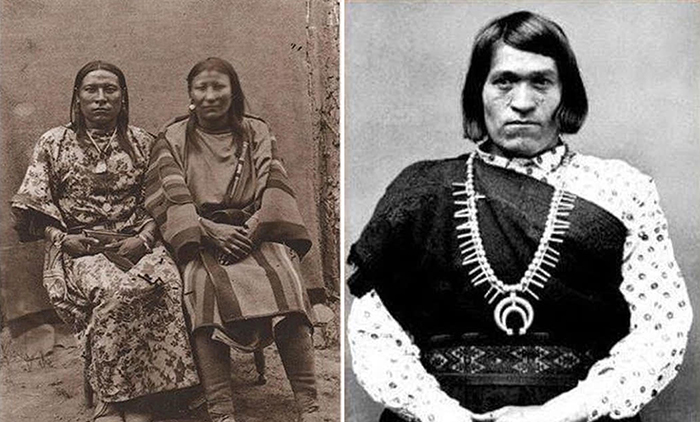 Женщина с ребенком из племени Навахо.
