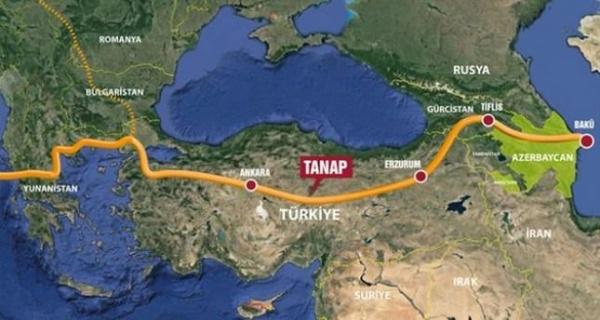Строительство газопровода TANAP завершено на80%