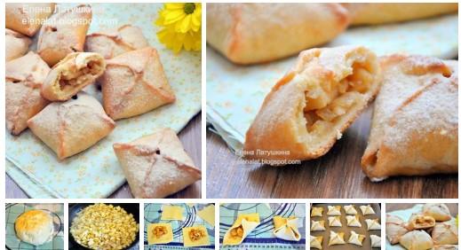 Невероятно вкусные конвертики с карамельными яблоками