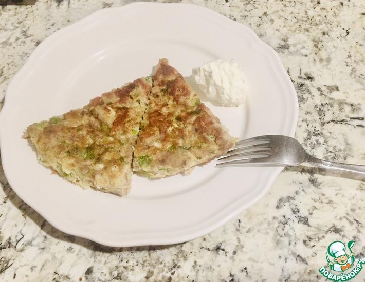 Рецепт: Ленивый кето-пирог на сковороде