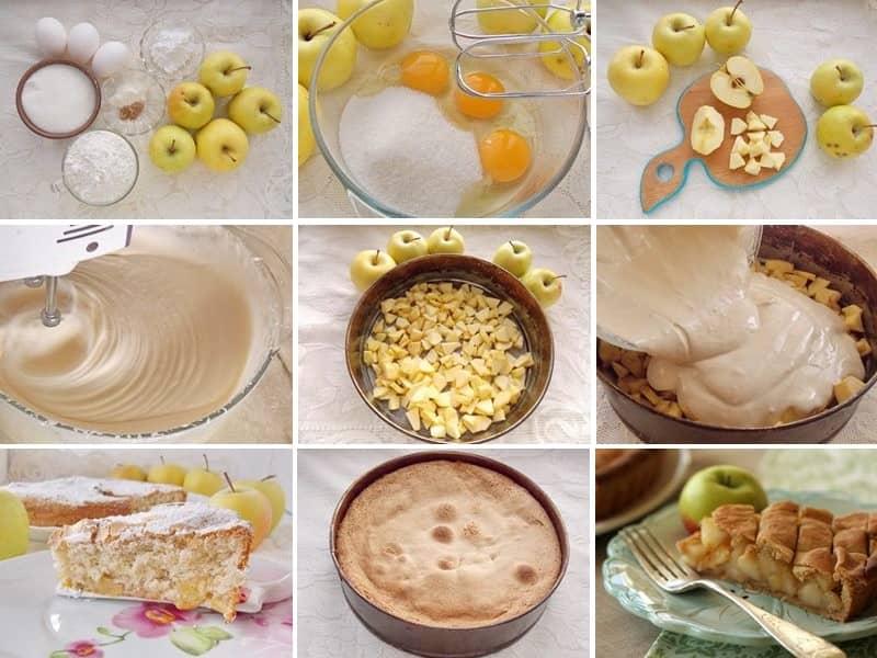 Как испечь шарлотку с яблоками пошаговый рецепт