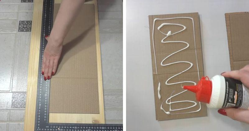 Разрезав картонные коробки и склеивая их, вы получите поразительный результат