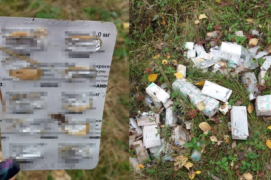 В Башкирии история с выброшенными упаковками лекарств в лесу получила продолжение