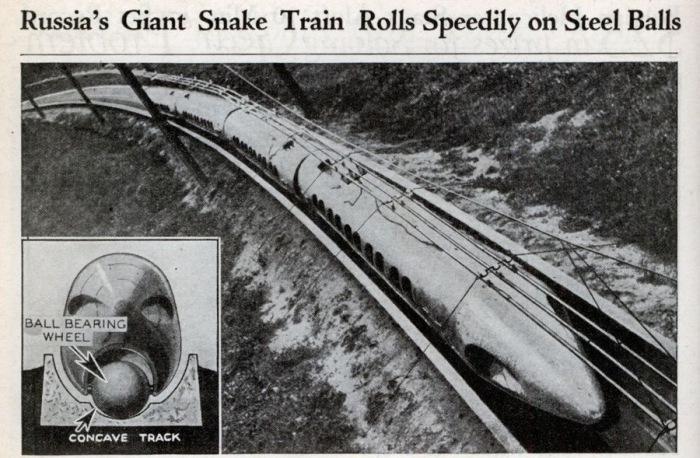История шаропоезда: как в Советском Союзе чуть было не перевернули представление о железной дороге
