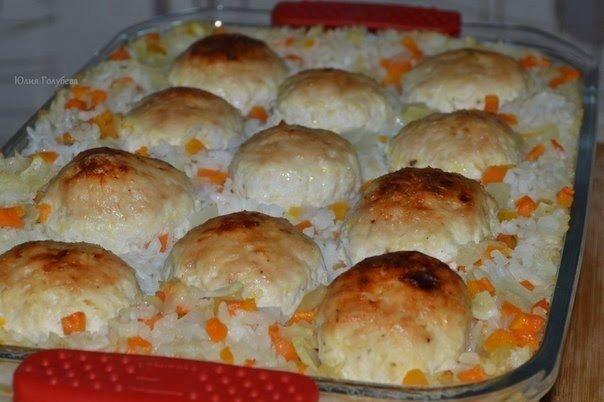 Куриные шарики с рисом. Великолепный обед или ужин для всей семьи!