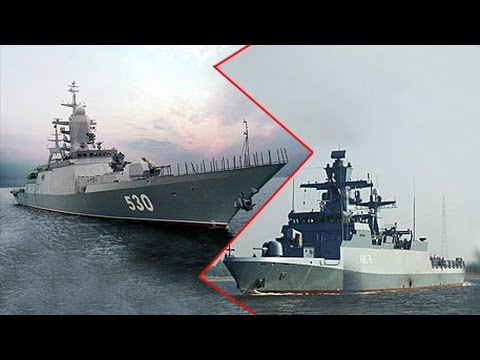"«Стерегущий» против «Брауншвейга» / Corvette ""Guarding"" vs. Braunschweig class corvette"