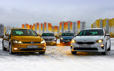 VW Golf и Skoda Octavia прот…