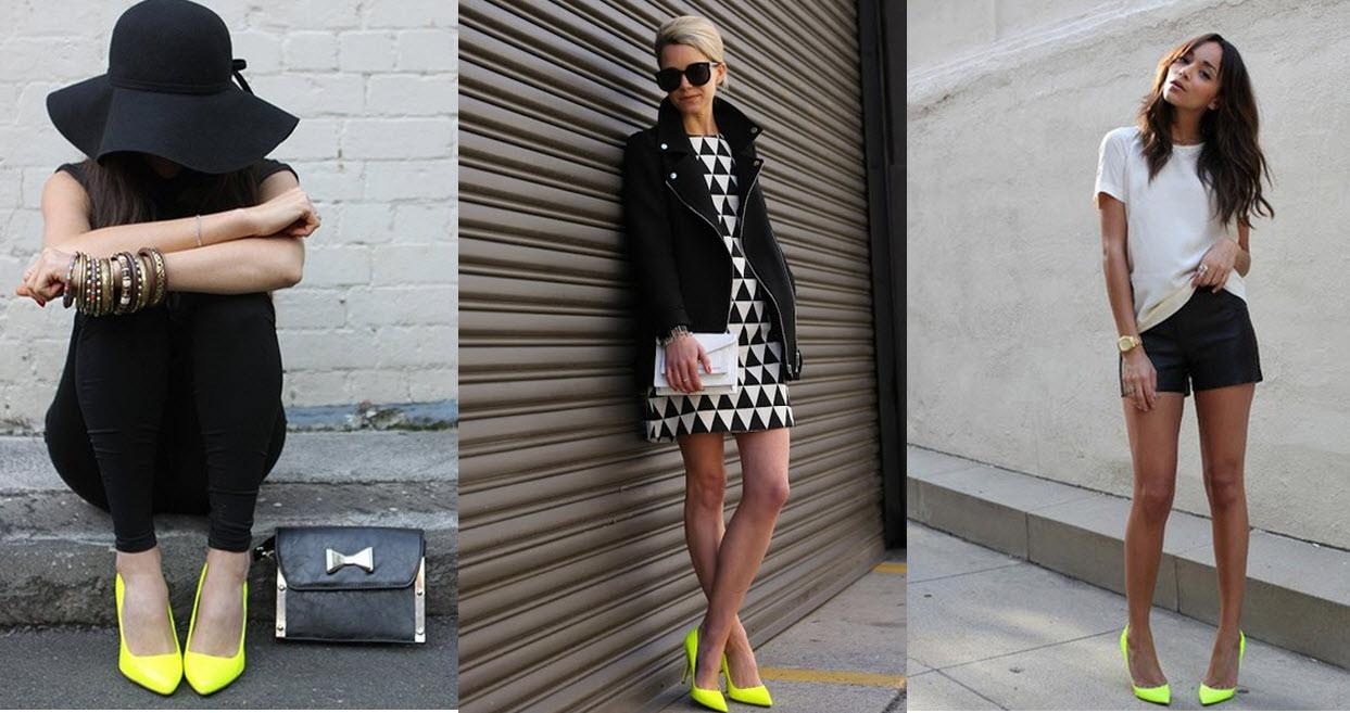 С чем носить желтую обувь: 20 солнечных образов