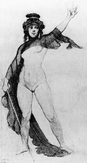 Прелестные нимфы, козлоногие обольстители и демоны в картинах Нормана Линдсея 46