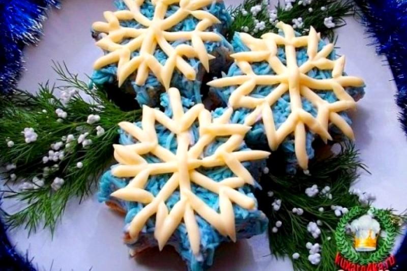 Закуска для новогоднего стола «Снежинки» !