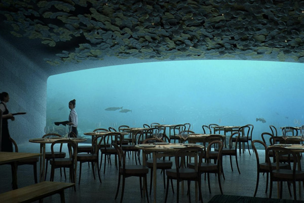 Уникальный подводный ресторан Under