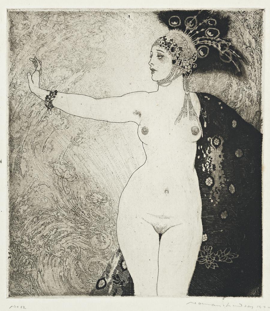 Прелестные нимфы, козлоногие обольстители и демоны в картинах Нормана Линдсея 24