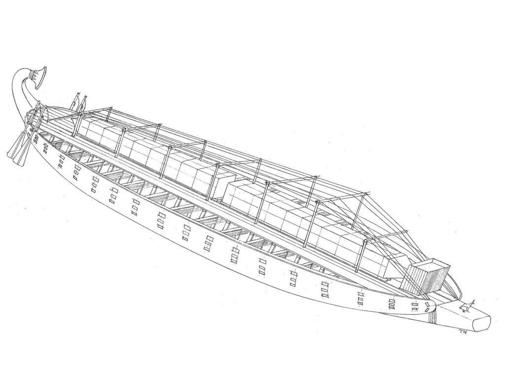 Как была устроена большегрузная речная баржа царицы Хатшепсут