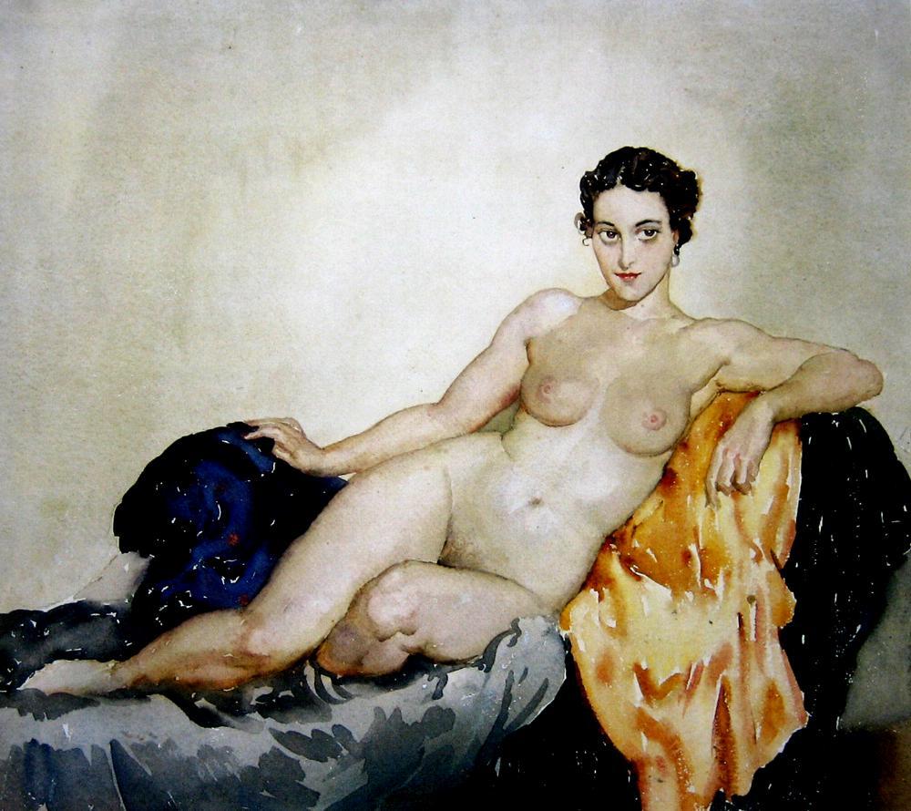 Прелестные нимфы, козлоногие обольстители и демоны в картинах Нормана Линдсея 66