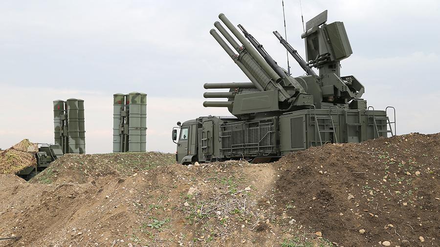 Беспилотник боевиков уничтожили в районе авиабазы Хмеймим
