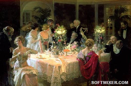 Ужин в стиле XIX века