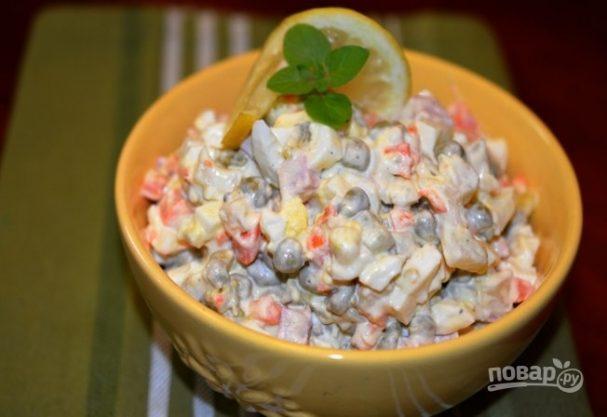 Зимний салат «Оливье»