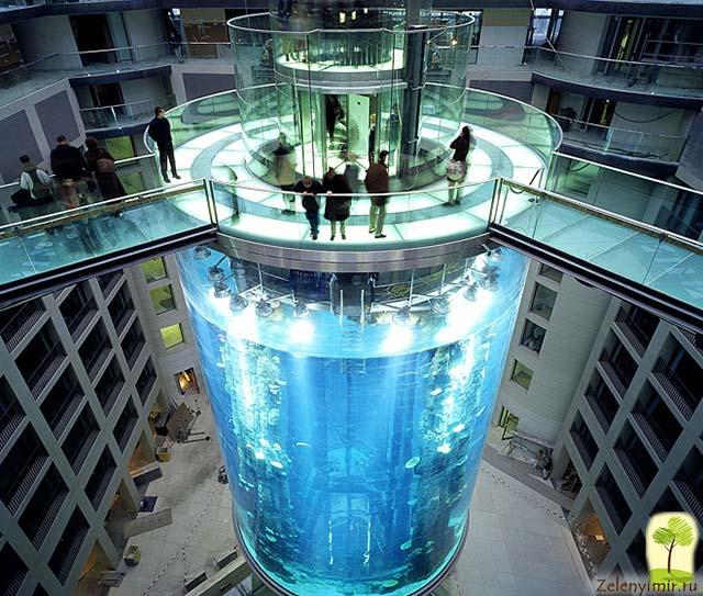 """Самый огромный аквариум в мире - """"Аквадом"""" в Берлине, Германия - 17"""