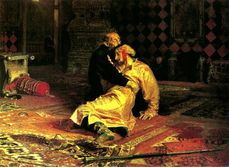 Картинки по запросу Гибель сына Ивана Грозного
