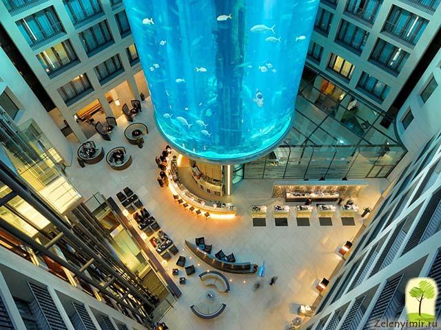 """Самый огромный аквариум в мире - """"Аквадом"""" в Берлине, Германия - 3"""