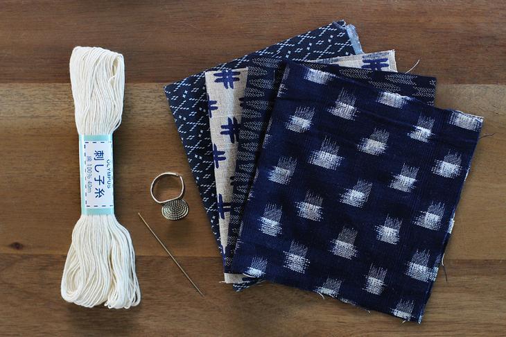 Заплатки на джинсы в японской технике