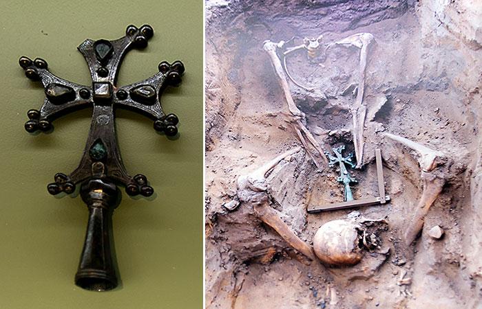 Захоронение найденное на Булгарском городище в 2010 г.