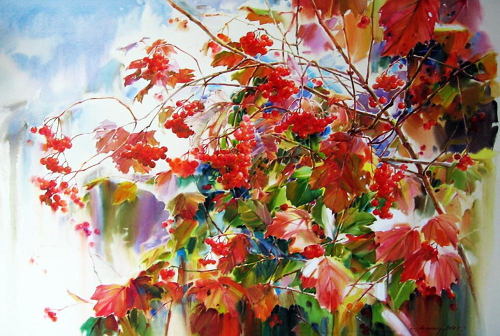 И пышен ваш торжественный наряд...солнечные и яркие осенние пейзажи Олега Тимошина