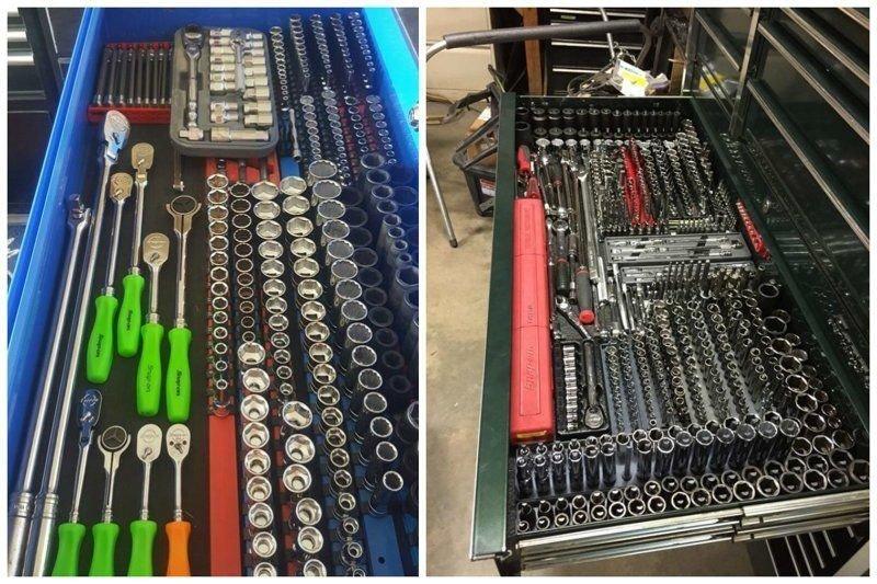 1. Идеальное размещение элементов по своим местам гараж, идеальный, инструменты, мастерская, перфекционизм, порядок
